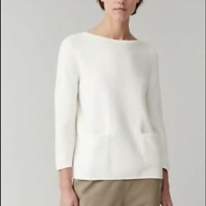 COS A-line Cotton Knitted Double Pocket sweater